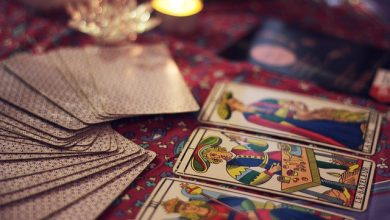 As cartas do tarot: diabo, morte e louco